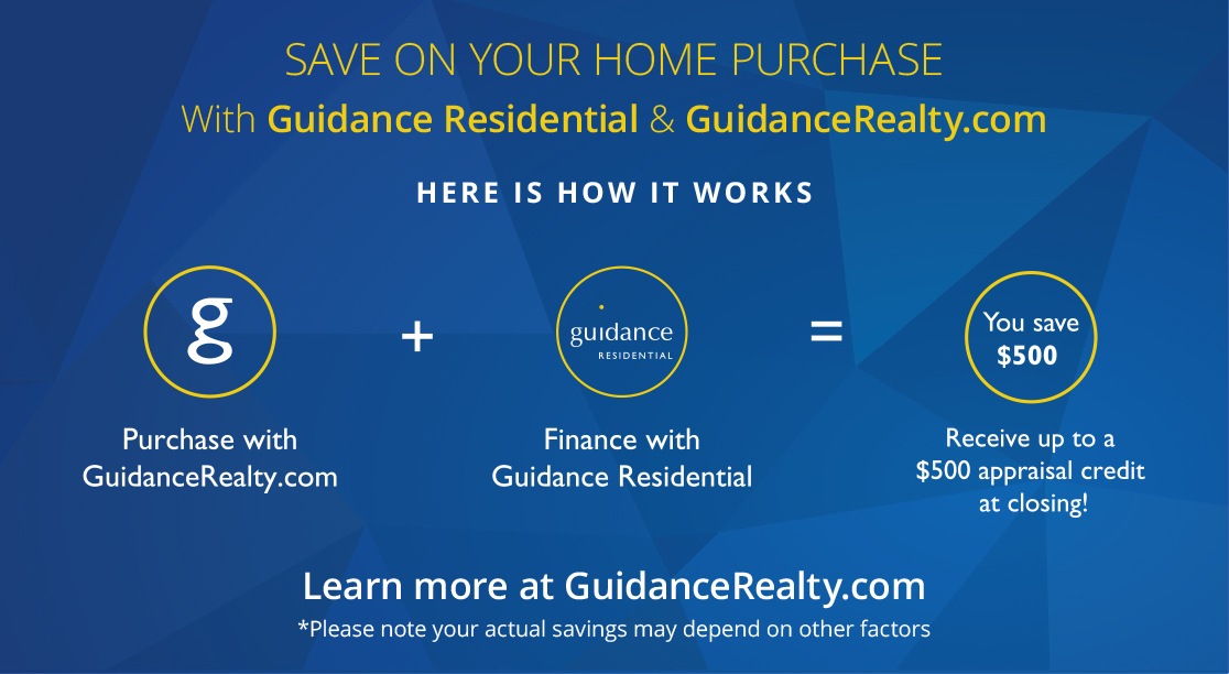 Save with Guidance Residential & GuidanceRealty.com