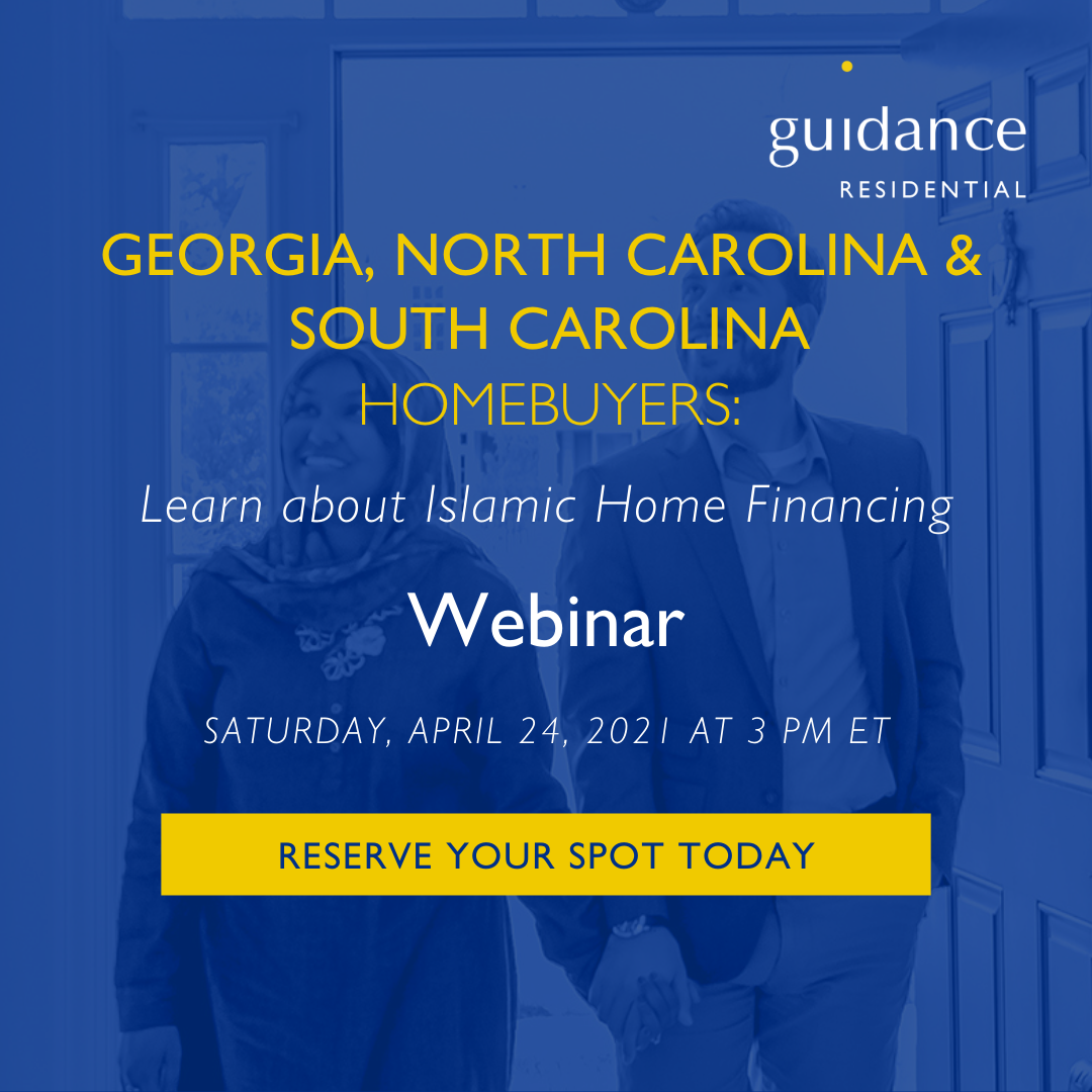 Learn about Islamic home financing webinar poster image